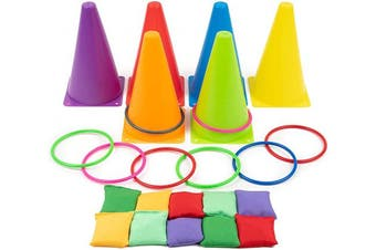 Outdoor 3 in 1 Carnival Game - Great Fun for Kids & Adults - Ideal for Birthday, Garden Parties, Outdoor Fun & More
