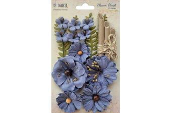 49 and Market BB-86196 Blossom Blends 6.4cm 13/Pkg-Bluebell