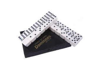 Dominoes Large Size Ivory with Black Dots