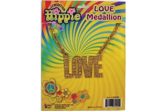 "(Standard) - ""Love"" 60's 70's Hippie Costume Medallion Necklace"