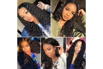 (36cm , 13*4 Curly Lace Front wigs) - Connie Lace Front Wigs For Black Women Pre Plucked With Baby Hair 150% Density 36cm Brazilian Remy Hair 13 x 4 Curly Human Hair Wigs Natural Colour