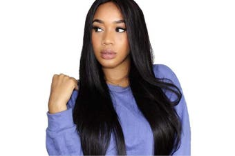 (46cm , Natural Color) - Straight Human Hair Wigs Lace Front Wig 150% Density Brazilian Remy Human Hair Natural Hairline wigs Glueless With Baby Hair Pre Plucked For Black Women (46cm , Natural Colour)