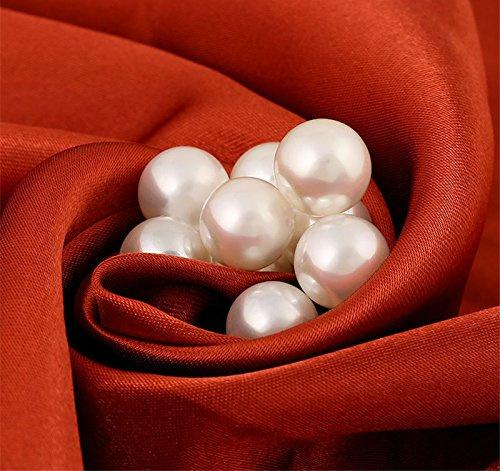 100*Imitation pearls with rivets studs leather bag shoes clothes DIY decor UP