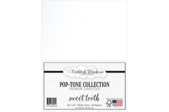 (Sweet Tooth) - SWEET TOOTH WHITE Cardstock Paper - 22cm x 28cm 29kg. Cover - 50 Sheets from Cardstock Warehouse