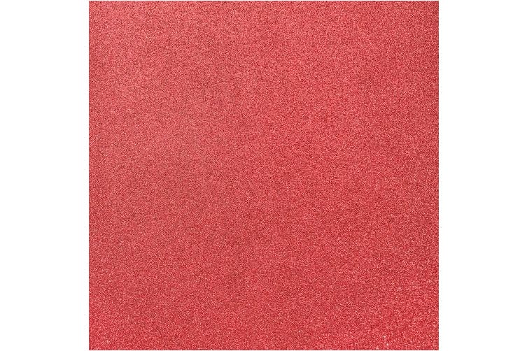 (Red Wagon) - MirriSparkle Red Waggon Glitter Cardstock Paper 30cm x 30cm - 16 PT/280gsm - 10 Sheets from Cardstock Warehouse