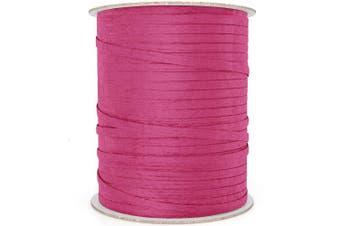 (100 yd, Hot Pink) - Natural Paper Raffia Ribbon (100 yd, Hot Pink)