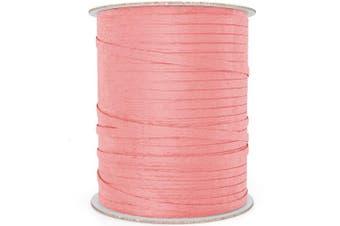 (100 yd, Rose Pink) - Natural Paper Raffia Ribbon (100 yd, Rose Pink)