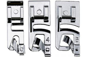 TFBOY 3 Sizes Rolled Hem Foo 3 mm, 4 mm, 6 mm Rolled Hem Presser Foot - Fits All Low Shank Snap-On Singer, Brother, Babylock, Euro-Pro, Janome, Kenmore, White, Juki, New Home