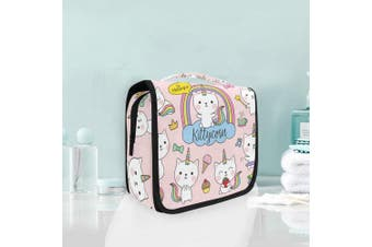 Hanging Travel Toiletry Bag Cat Unicorn Cute Kit Makeup Case Cosmetics Organiser for Men Women by domook