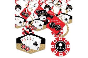 Las Vegas - Casino Party Hanging Decor - Party Decoration Swirls - Set of 40