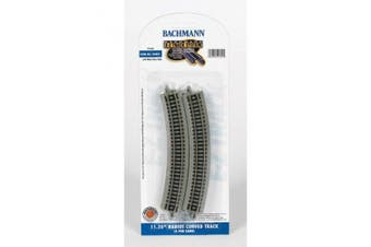 Bachmann 11.25? Radius Curved Track (6/Card) - N Scale