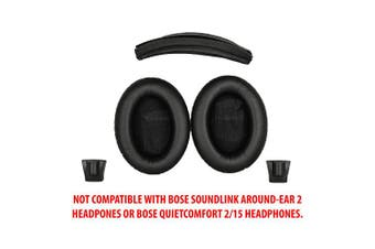 (AE2/AE2w/SoundTrue AE1 Combo, Black) - Replacement Ear pads and Headband Cushion pad for Bose Around-Ear 2 (AE2), Around-Ear 2 Wireless (AE2w) and SoundTrue Around-Ear (AE) headphones - NOT COMPATIBLE WITH SOUNDLINK AROUND-EAR 2 HEADPHONES