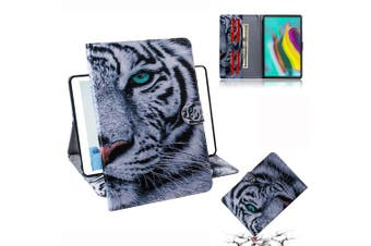 "(Huawei Mediapad T5 10"", Tiger) - DodoBuy Huawei Mediapad T5 25cm Case PU Leather with Soft TPU Back Cover Wallet Stand Credit Card Slots Cash Holder Magnetic Clasp for Huawei Mediapad T5 25cm - Tiger"