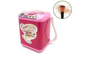 Wakaka Electric Makeup Brush Cleaner Spinner Machine - Electronic Mini Washing Machine Shape Automatic Makeup Brush Cleaner Dries Deep Cleaning Mini Toy