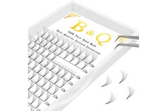 (6D-D-0.10, 13 mm) - 4D 6D Premade Fans Pre made Volume Lashes Extensions C D Curl 0.07/0.10 Thickness Pre fanned Fans Eyelashes Extensions Russian Volume (6D-D-0.10, 13 mm)