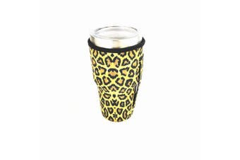 (Leopard) - Bottle Sleeve Leopard Print Rainbow Sunflower Water Neoprene Insulated Sleeve Bottle Cover Pouch for 890ml Tumbler Cup (Only Cup sleeves) (Leopard)