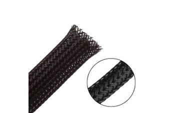 (0.6cm -7.6m &1.3cm -7.6m, Black) - 15m - 0.6cm & 1.3cm PET Expandable Braided Sleeving – Black – Alex Tech braided cable sleeve
