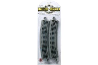Bachmann Trains Snap-Fit E-Z Track 22. Radius Curved Track (4/card)