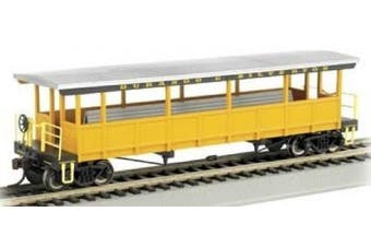 DURANGO & SILVERTON  Open Sided Excursion Car with Seats.  HO Scale