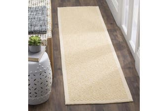 (0.6m x 0.9m, Crème) - Safavieh Natural Fibre Collection NF525A Cream Sisal Area Rug (0.6m x 0.9m)
