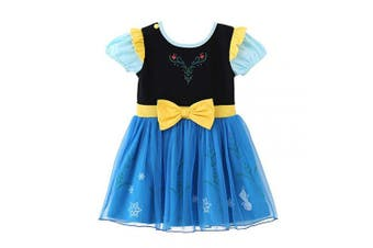 (4-5 Years, Anna) - Lito Angels Little Girls Princess Anna Fancy Dress Up Costume Halloween Birthday Party Dress Size 4-5 Years