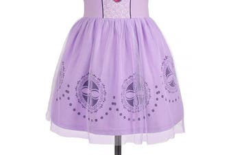 (4-5 Years, Sofia) - Lito Angels Little Girls Princess Sofia Dress Casual Wear Birthday Party Halloween Costumes Dress Size 4-5 Years
