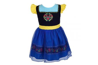 (3-4 Years, Anna) - Lito Angels Little Girls Princess Anna Dress Casual Wear Birthday Party Halloween Costumes Dress Size 3-4 Years