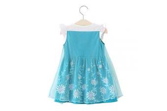 (18-24 Months, Elsa) - Lito Angels Baby Girls Princess Elsa Dress Casual Wear Birthday Party Halloween Costumes Dress Size .