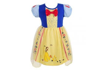 (3-4 Years, Snow White 1) - Lito Angels Little Girls Princess Snow White Dress Casual Wear Birthday Party Halloween Costumes Dress Size 3-4 Years