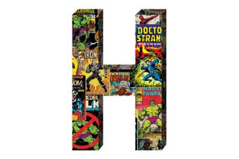 "(h) - ""Marvel"", Retro Comics Wood Letter 'H'"