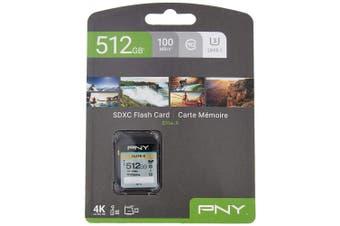 PNY Elite-X SDXC card 512GB Class 10 UHS-I U3 100MB/s