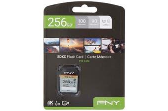 PNY Pro Elite SDXC card 256GB Class 10 UHS-I U3 100MB/s