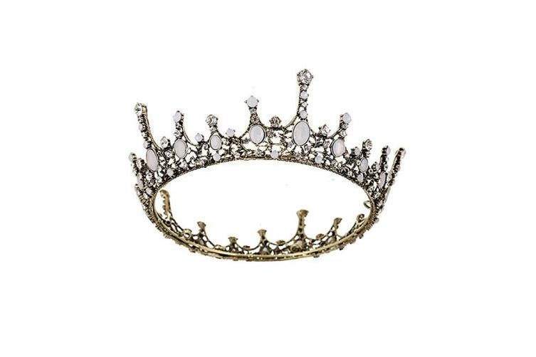 (2.Noble Crown) - SNOWH Roysl Baroque Queen Tiara, Vintage Jewelled Pageant Crowns and Tiaras Wedding Tiara for Bride Hair Accessories for Women and Girls