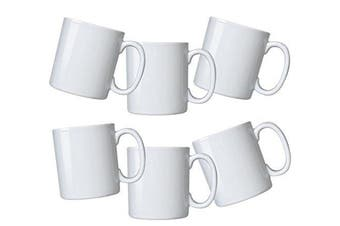 (White) - Durable Gourmet White Mugs- set of 6