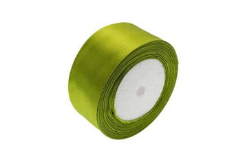 (Olive Green) - ATRibbons 50 Yards 2.5cm - 1.3cm Wide Satin Ribbon Perfect for Wedding,Handmade Bows and Gift Wrapping,25 Yards/Roll x 2 Rolls (Olive Green)