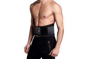 (XXL - Waist 110cm to 132cm) - Cotill Lower Back Support Belt - Lumbar Support Brace for Pain Relief and Injury Prevention - Dual Adjustable Straps and Breathable Mesh Panels (XXL - Waist 110cm to 132cm)