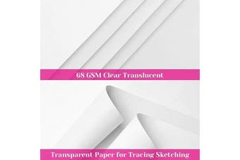 Vellum Paper, Cridoz 50 Sheets Vellum Transparent Tracing Paper 22cm x 28cm Translucent Paper Clear Paper for Sketching Tracing Drawing Animation