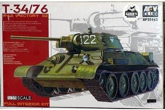 T34/76 1942 Factory 112 Full Interior Tank 1-35 AFV Club