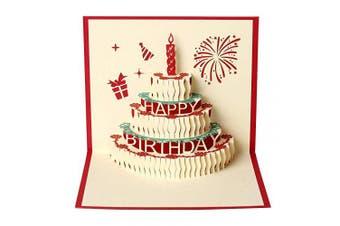 Men Women 3D Happry Birthday Cake Card Gifts for Best Friend Girl Boy Children