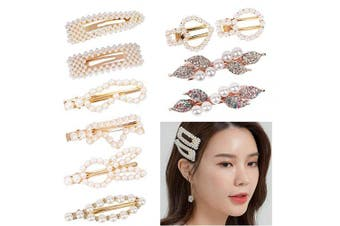 (10pcs Pearl Hair Clips) - Pearl Hair Clips, Pearl Hair Barrettes, Hair Decorative Accessories for Girls Women (10pcs Cute Pearl Hair Clips, 10 Styles)