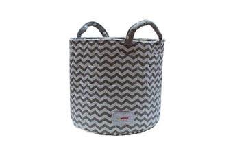 Minene Storage Basket, Grey Chevron Medium 29x29x29cm