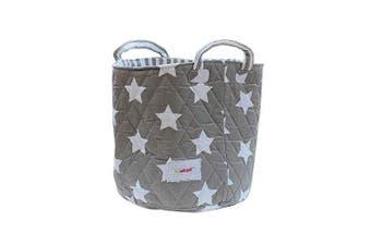 Minene Medium Storage Toy Basket, Grey Star 29x29x29cm