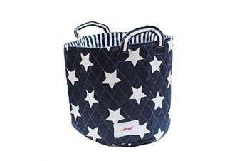 Minene Medium Storage Toy Basket, Navy Star 29x29x29cm