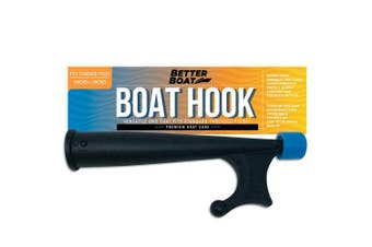 (Hook Only) - Boat Hook with Standard Pole Screw End 1.9cm Thread   Handy Hook Boating Accessories with Rubber Bumper Push Stick Motorboat Sailboat Pontoon (with or Without Extension Pole or Telescoping Pole)
