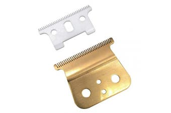 (T blade + glod steel blade) - Gold T outliner blade for andis t outliner, andis gtx replacement blade (T blade + glod steel blade)