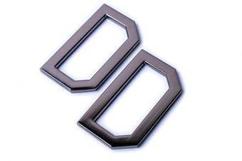 (Black Gun) - Bobeey 4pcs 3.8cm Black Gun Flat D-Rings For Buckles,D Rings For Belt Clasps,Metal Welded D rings for Belts Bags Landyard Leathercraft,Purse Findings BBC16 (Black Gun)