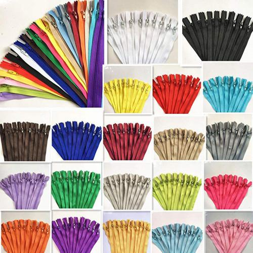 Black 7-Inch 100 pcs Nylon Coil Zippers Tailor Sewer Craft