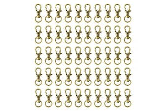 (bronze) - Swivel Clasps Lanyard Snap Hook,cnomg Metal Swivel Lanyard Snap Hook Lobster Claw Clasp (Bronze, 50pcs 32mm)