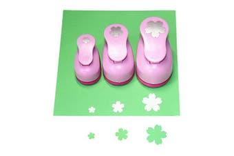 (Flowers) - CADY Crafts Punch Set 8mm 15mm 25mm Paper Punches 3pcs/Set (Flowers)