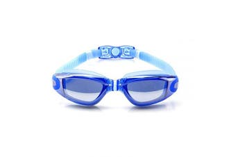 (Adult/Youth, Plating Blue) - AINAAN Glasses, Leaking Anti-Fog Indoor Outdoor Swimming Goggles with UV Protection Mirrored Clear Lenses, Adult/Youth, Plating Blue